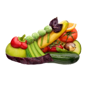 shutterstock_209236522 trainer made out of vegetables Feb15