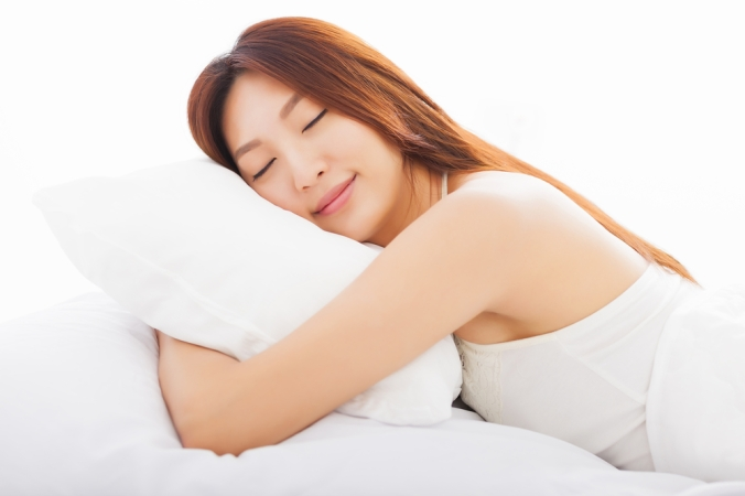 Close up of woman sleeping