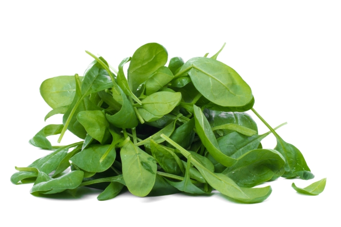 A pile of spinach leaves