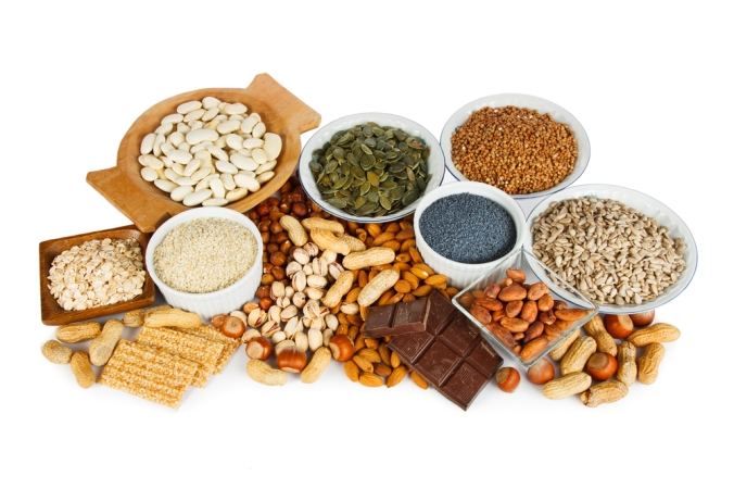 A range of foods containing the mineral Magnesium