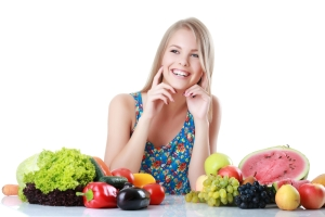 shutterstock_335355719 woman with fruit and vegetables May16