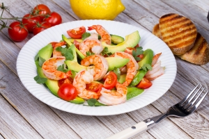 shutterstock_256747903 prawn and avocado salad June16