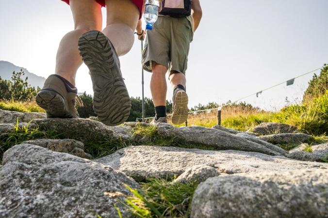 Two hikers enjoying a walk