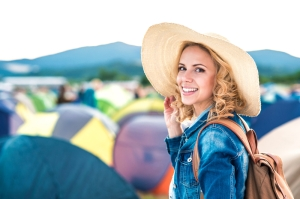 shutterstock_368143457 woman music festival camping June16