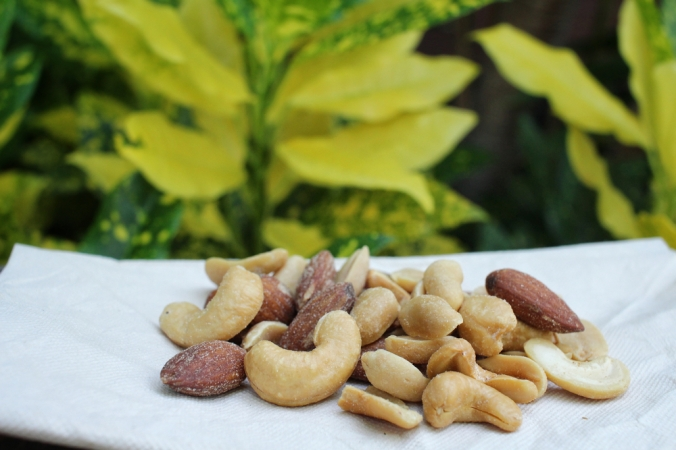 A selection of nuts as a snack