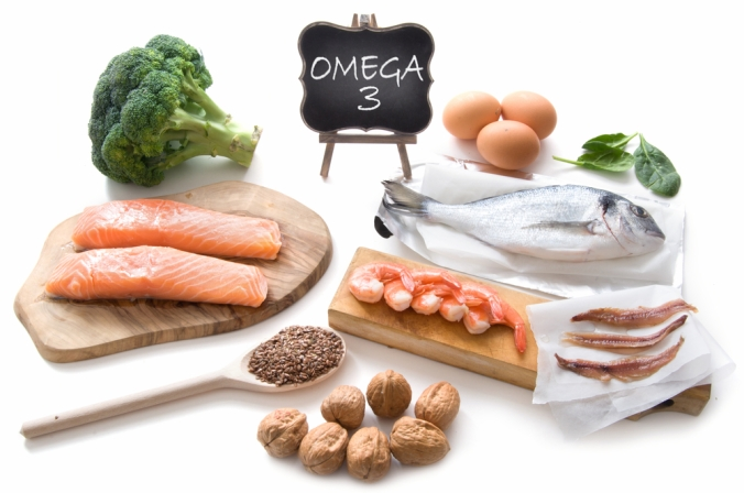A range of foods containing healthy Omega-3 fats