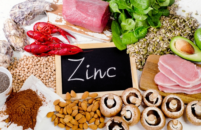 A range of foods containing the mineral Zinc