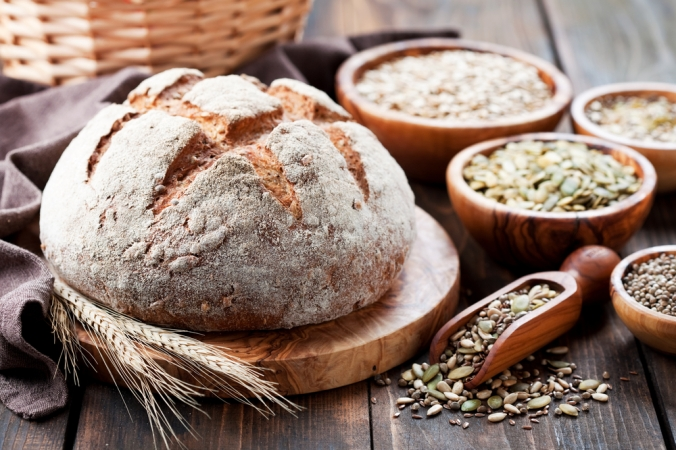 A rnage of wholegrain foods