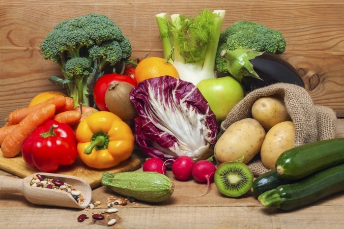 A range of fruits and vegetables