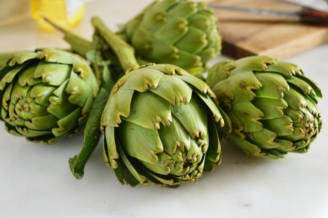 Close up of artichokes