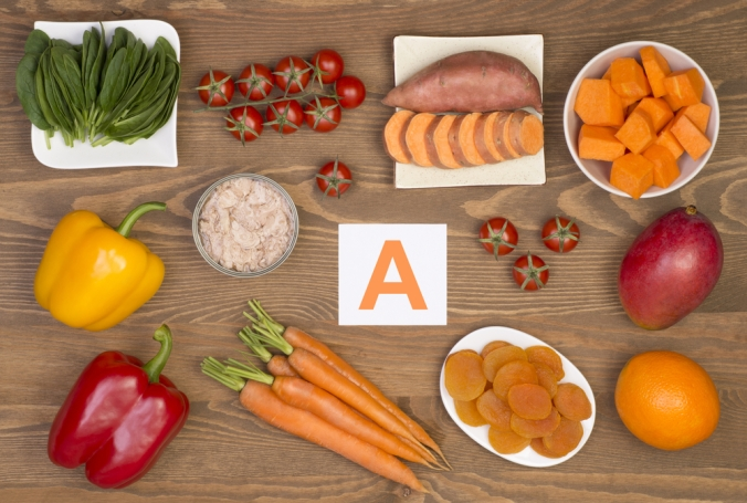 A selection of foods containing Vitamin A