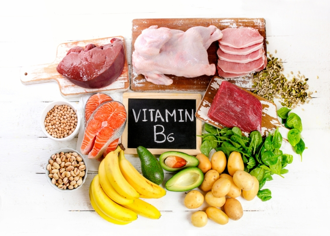 A range of foods containing Vitamin B6