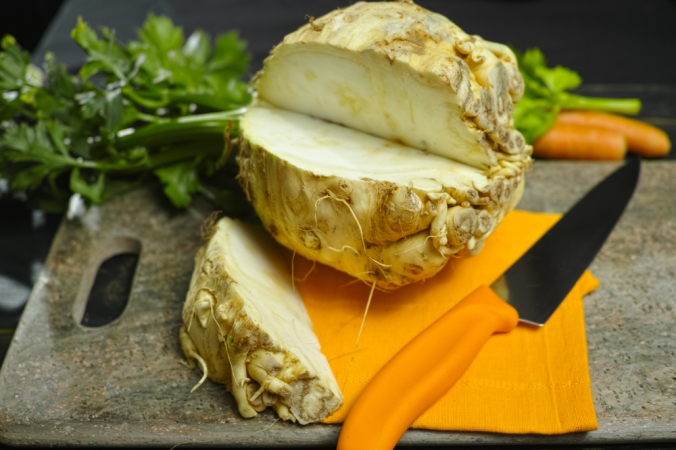 Celeriac on a table