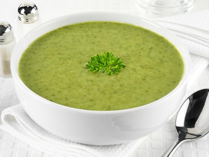 A bowl of watercress soup