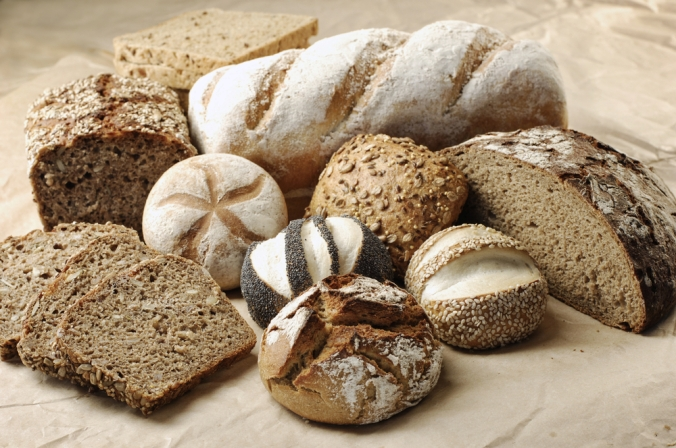 A selection of brown bread loaves