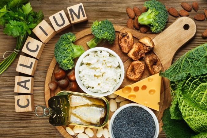 A range of foods containing calcium