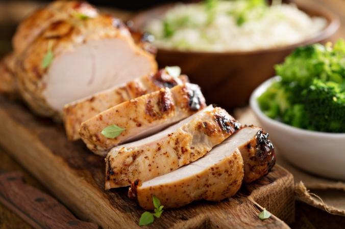 Sliced turkey breast
