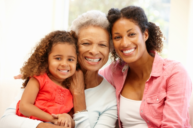 Three generations family Grandmother, mother and daughter