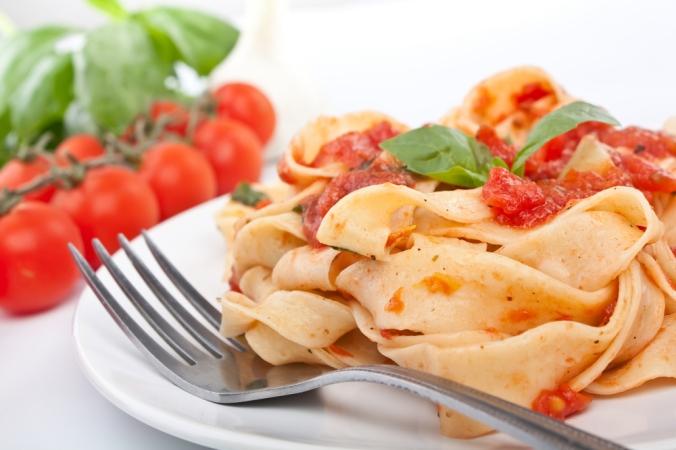 A plate of tagliatelle marinara