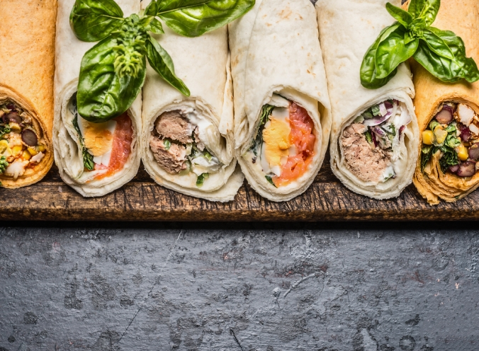 shutterstock_461352127 selection of wraps