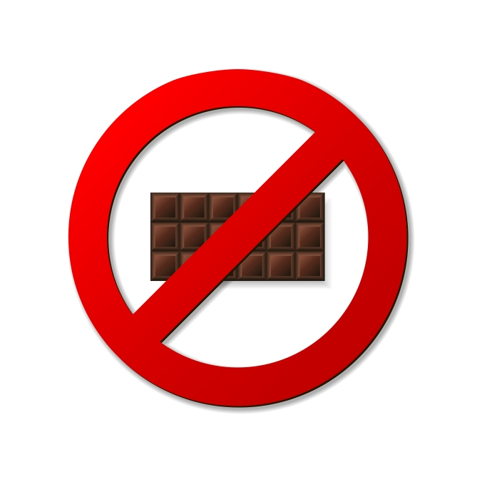No chocolate sign