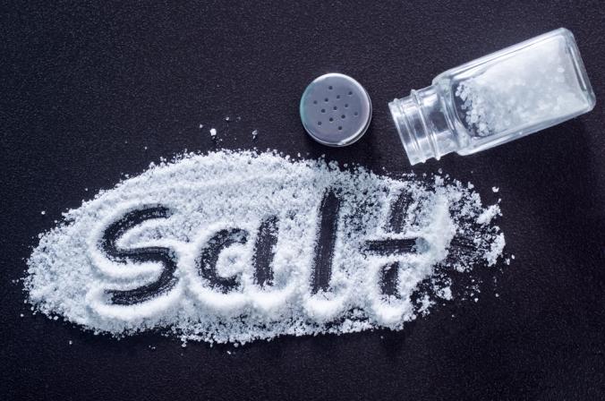The word salt written in salt