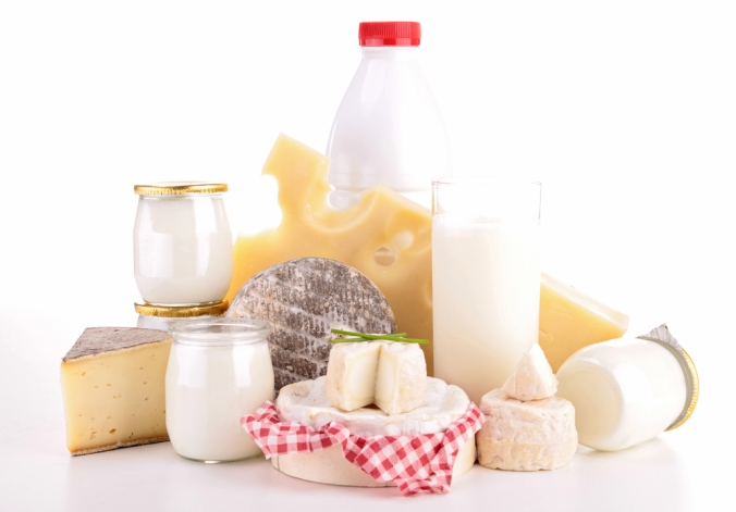 Range of dairy products