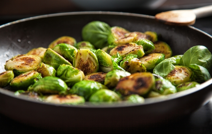 Sprouts dish with ginger