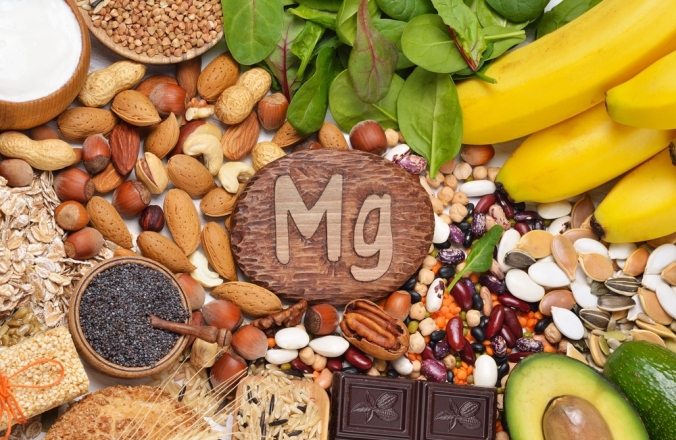 A range of foods containing magnesium