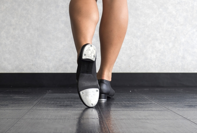 Close up of a tap dancer to represent new hobbies