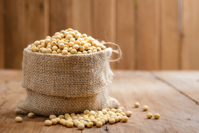 A sack of soy beans