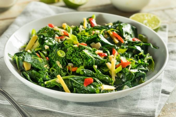 A dish of collard greens