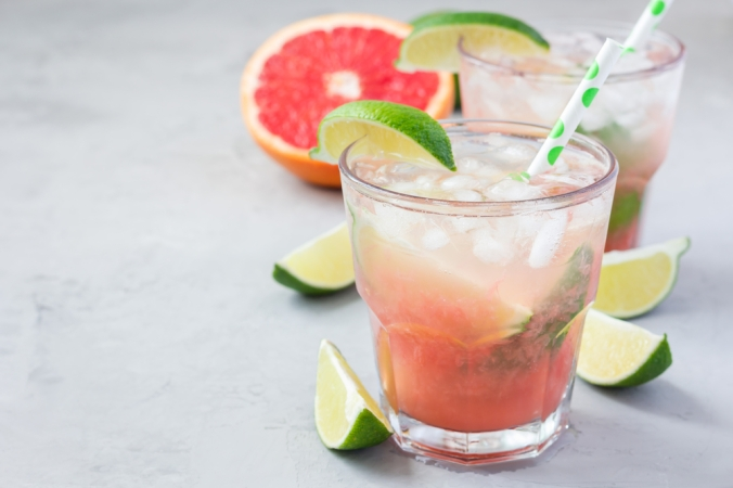 Grapefruit margarita cocktail