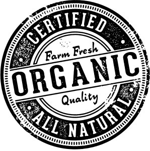 A black and white stamp saying 'certified organic'