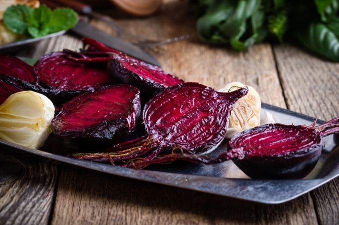 Roasted sliced beetroot