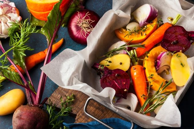 A range of roasted vegetables