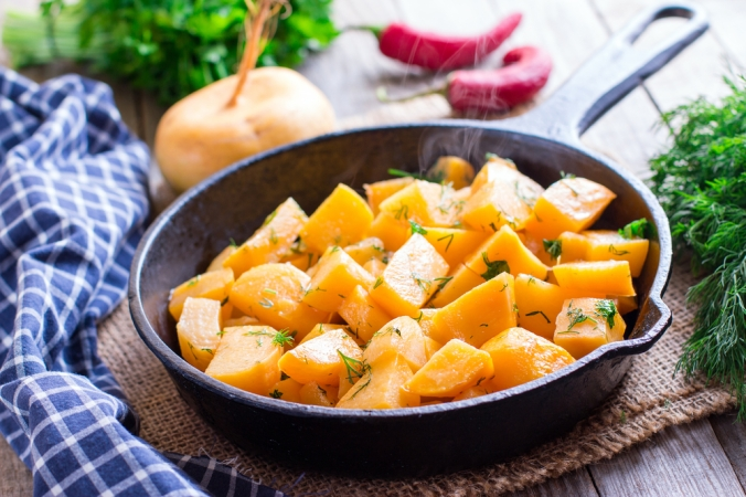 Roasted turnip side dish
