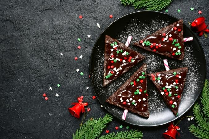 Dark cocolate christmas trees