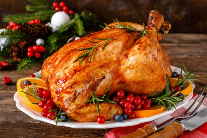 Roast Christmas turkey