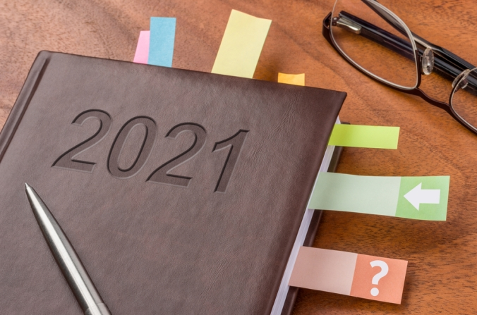 A 2021 note book to show goal planning