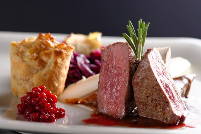 Venison with red cabbage
