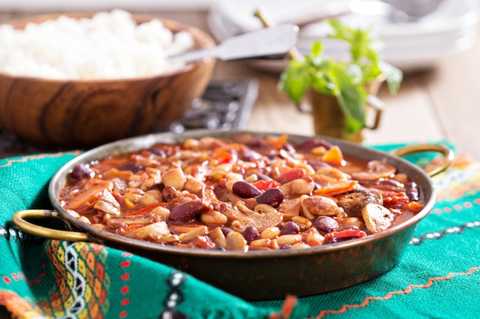 Vegan,Chili,With,Beans,,Mushrooms,,And,Vegetables