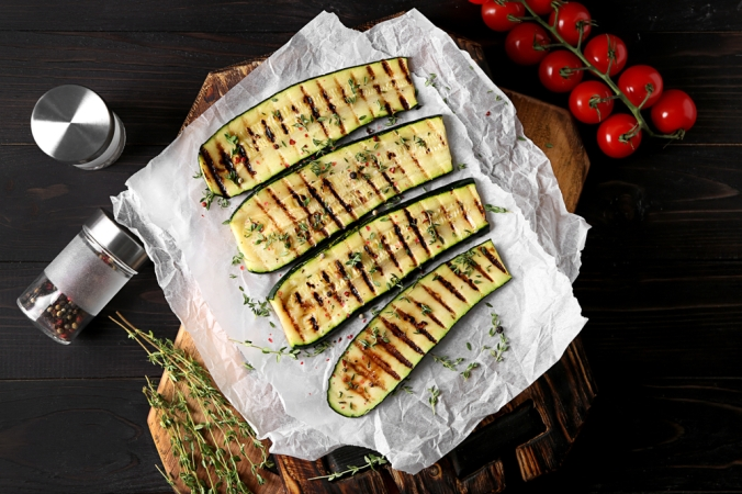 Tasty,Grilled,Zucchini,On,Parchment
