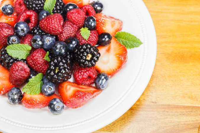 Mixed,Berry,Salad,With,Mint.,Fruit,Salad.
